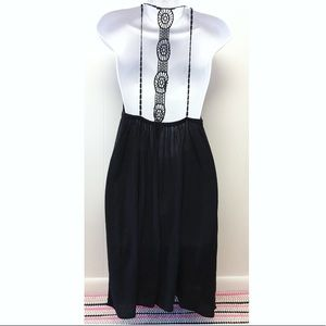 Lani | Crochet Strap Black Flowy Summer Dress Boho